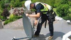 FreeSat Dish Install to a single point - single feed (FREESAT 01)