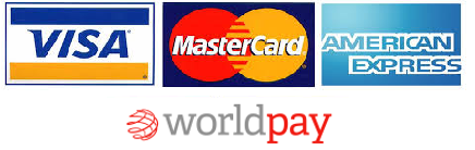 Payment cards accepted - Visa, Master-card and American Express